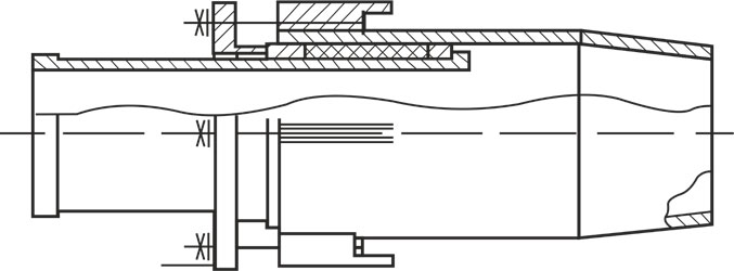 Схема компенсатора сальникового